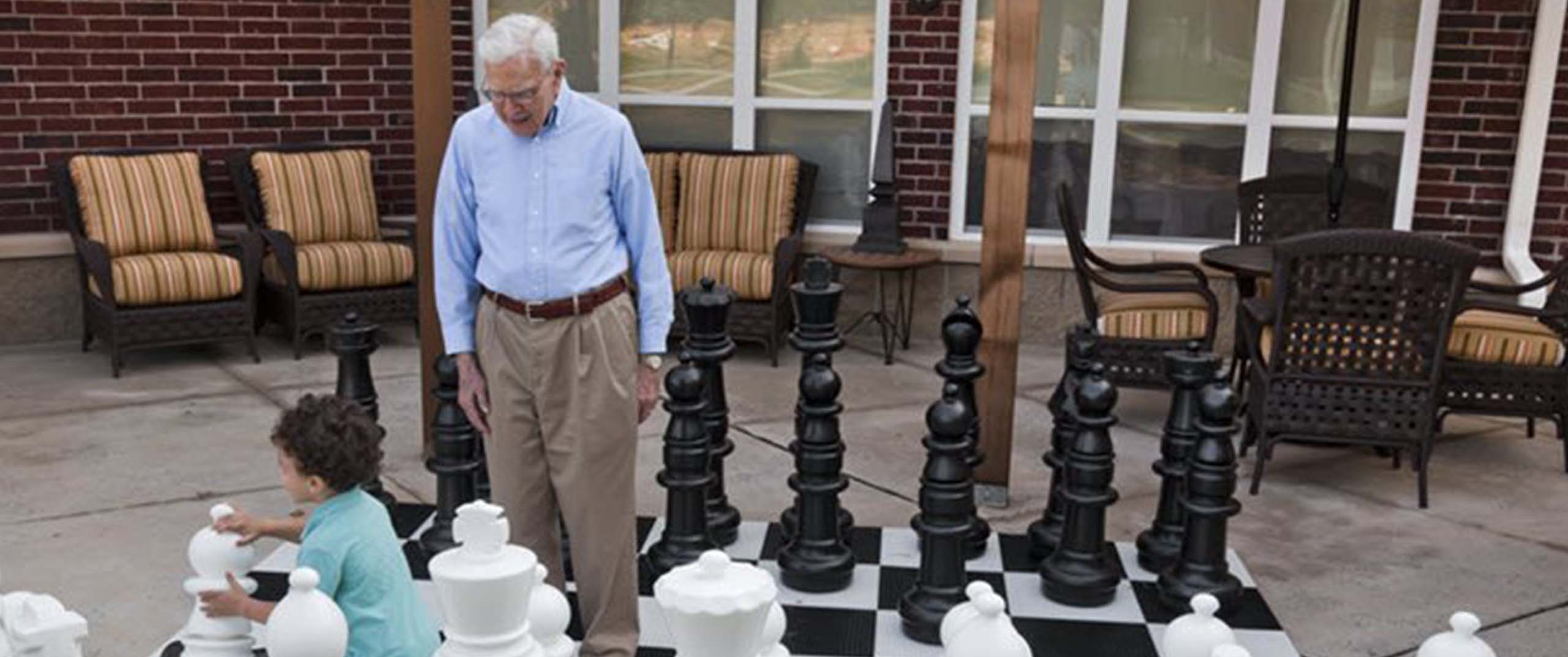 Chessboard Grandfather and Son
