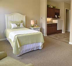 bed in power floor plan